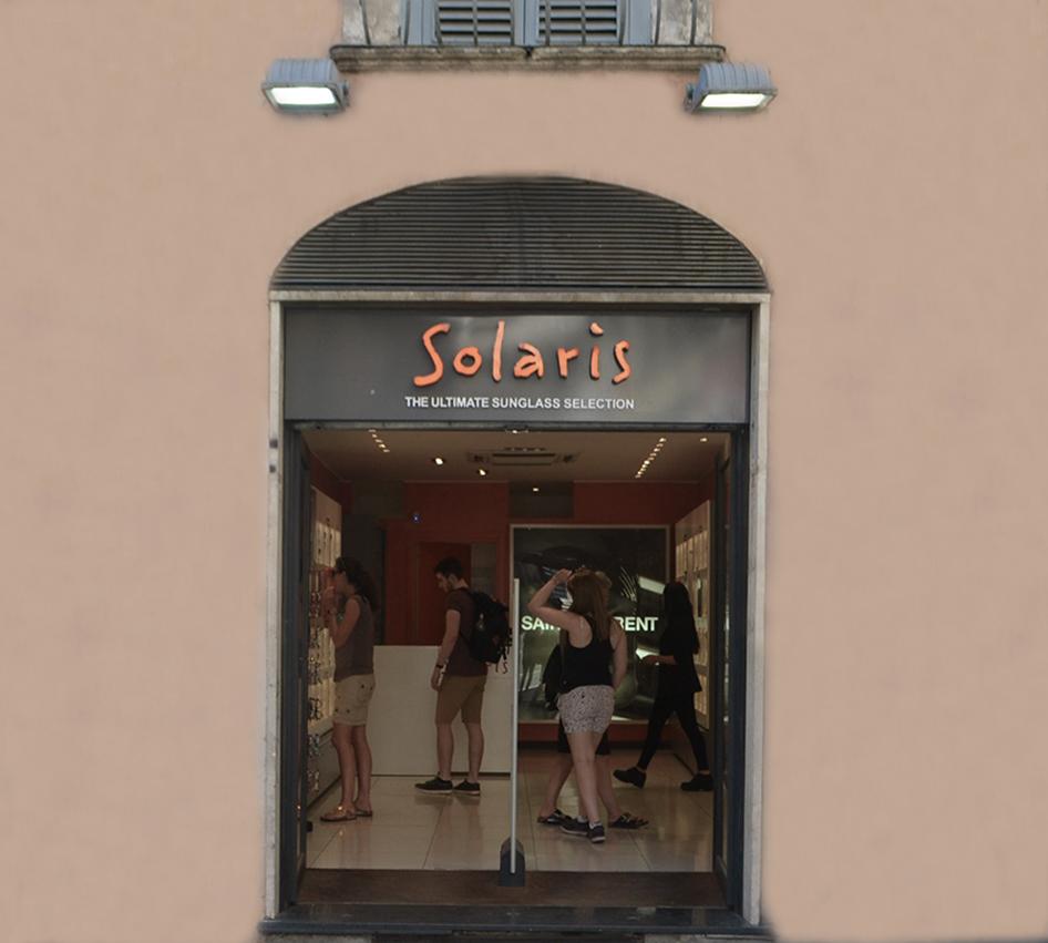 Negozio Solaris via dei Giubbonari Roma