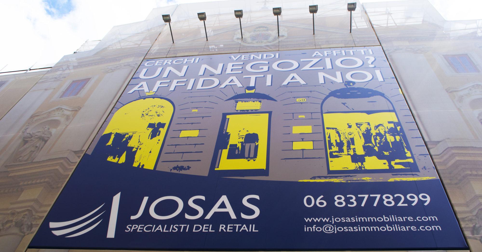 Campagna pubblicitaria Josas maxi affissione Via dei Condotti