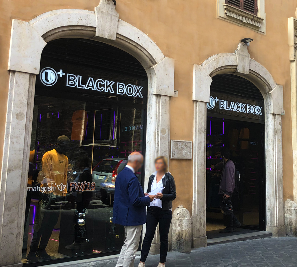 Black box Via del Gambero