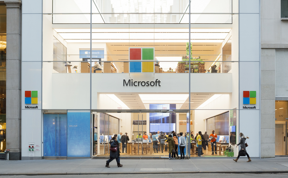 Microsoft Store on Fifth Avenue in Midtown Manhattan